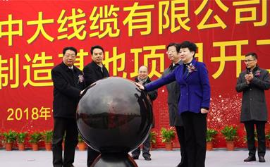 浙江省特别重大产业项目|物产中大线缆智能制造基地项目举行开工仪式